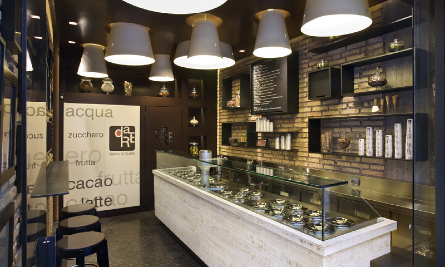 Marco ciampa gelateria dare for Da designs interior design